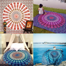 Handmade Chiffon Indian Mandala Tapestry Hippie Home Decor Wall Hanging Boho Beach Towel Yoga Mat Bedspread Table Cloth Yoga Mat