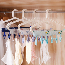 2016 new Portable Socks Drying Cloth Hanger Rack bathroom rack Clothespin Business Travel Portable Folding Cloth Hanger Clips