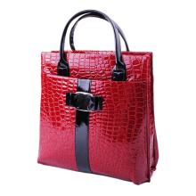 New Arrival Black Red Hot Sale Women Handbag Luxury OL Lady Crocodile Pattern Hobo Tote Shoulder Bag