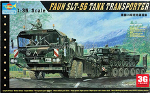 Trumpeter scale model scale vehicle 00203 1/35 FAUN SLT-56 TANK TRANSPORTER  assembly model kits modle building scale kits
