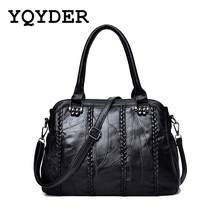 Brand High Quality Women Sheepskin Handbag Famous Designer Messager Crossbody Bag Female Sac Big Bags Casual Tote Bolsa Feminina(China)