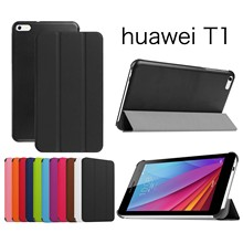 High Quality Lichi Leather Case Stand  Case For Huawei MediaPad T1 7.0 T1-701u Tablet Case+Film+Stylus Pen
