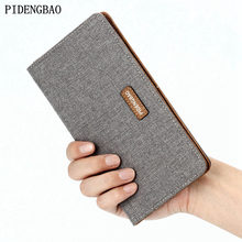 PIDENGBAO Denim Men's Wallet Staple of Money Holder Cash Money Fine Business Card Casual Style Canvas Card Holder For Teenager(China)