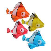 4Pcs/set Water Toys Inflatable Fish Toys Ballon Outdoor Fun Game Props Inflatable Fish Pool Float for Swimming Pool Party Gifts