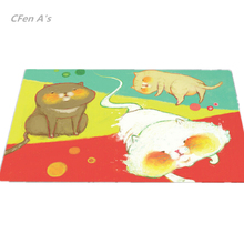 CFen A's PVC Dinner table Placemat waterproof Non-Slip Table Setting placemats for table bowl pad coasters tableware mat 2pcs(China)
