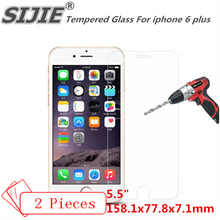SIJIE Tempered Glass For iphone 6 plus i6P i6 Pro a1593 Screen protect protective cover coverage discount crystals 5.5 inch