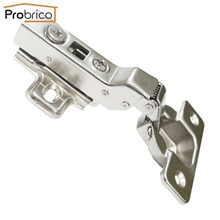 Probrico 20 Pair Soft Close Concealed Kitchen Cabinet Hinge CHR083HB Half Overlay Hydraulic Furniture Cupboard Door Hinge(China)