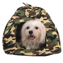 Trendy Camouflage Pet Dog Cat Cozy Bed Washable Thermal Soft Warm House Bed for Pets Puppy Kitten Nest Mat Pad Pets Animals beds