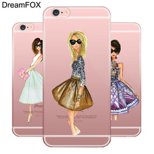Buy L041 Fashion Dress Sexy Girls Soft TPU Silicone Case Cover Apple iPhone X 8 7 6 6S Plus 5 5S SE 5C 4 4S for $1.27 in AliExpress store