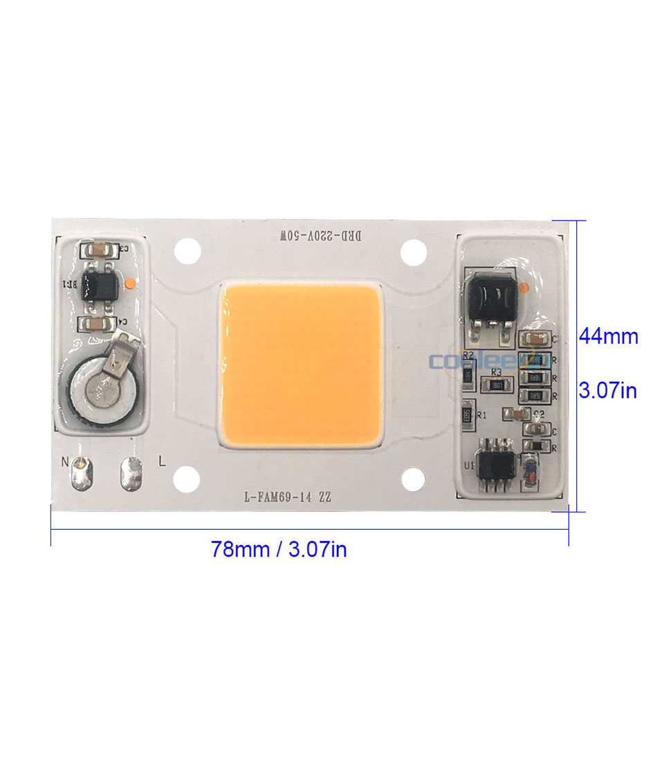 Full Spectrum COB LED Lamp 50W 95% RA 220V AC COB Chip Smart IC for Plant Frow Lights Floodlight Lighting Source Warm Cold White (3)
