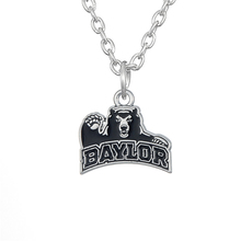 Skyrim Zinc Alloy Sports Enamel Baylor University Bears Logo Pendant Necklace with 450+50mm Chain for Men and Women Gift(China)