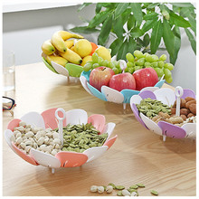 Multifunctional Steamer Rack Trunk House Carrier Retractable Foldable Vegetable&Fruit Folding Basket Kitchen Storage Accessory(China)