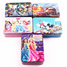 Cartoon 100-piece Paper Jigsaw Puzzle Classic Kids Educational Puzzles Toy for Children Iron Box Packing