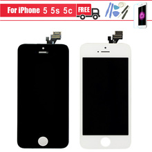 LCD Touch Screen with Digitizer Assembly Replacement For iphone 5 5s 5c 6 plus 6s White or black High Quality No Dead Pixel
