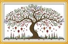 Дерево любви вышивки крестом комплект 14ct 11ct количество печатных холст сшивание вышивка DIY ручной рукоделие(China)