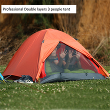 Professional Double layer 3-4 people Aluminum pole outdoor camping hiking ultralight PU5000 waterproof heavy rain tent