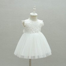 White Girl Dress Bebes Children Clothing Wedding Party Girls Dresses 1 Years birthday Clothes Newborn Princess Infant Dress Girl(China)