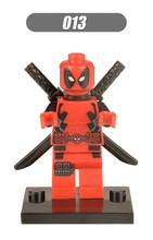 Single Sale Super Heroes X-Man Deadpool Catwoman Batman Joker Bricks Action Building Blocks Collection Toys children XH 013 - Minifigures store