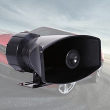 Police Horn Siren Car Auto Vehicle Truck Motorcycle 5 Sound Tone Loud Firemen Ambulance Warning Alarm Loudspeaker DC 12V 100W