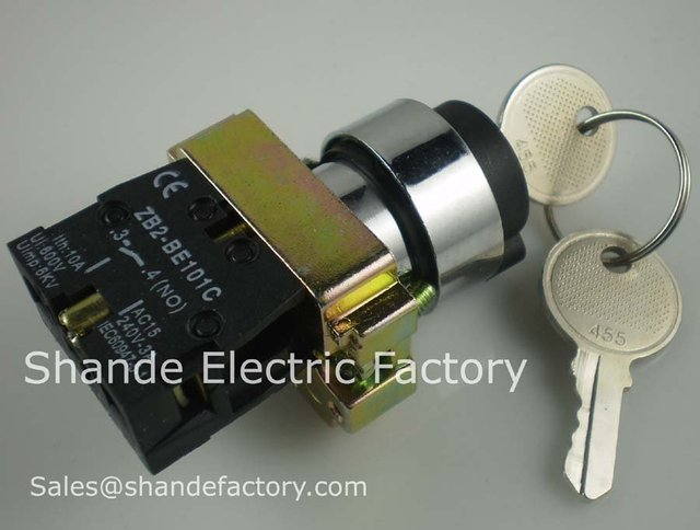 2pcs 2 Position 1 NO Normally Open 1 N/O Locked Maintained Key Switch