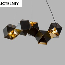 Nordic postmodern metal bull droplight of DNA loft villa clubhouse example room designer chandeliers