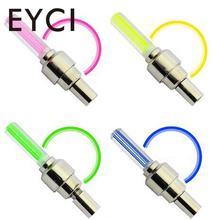 EYCI 1pair Bicycle Car LED Neon Tire Gas Nozzle Valve Core Glow Stick Light Cycling Flashlight Drving Bicycle Lamp Accessories(China)