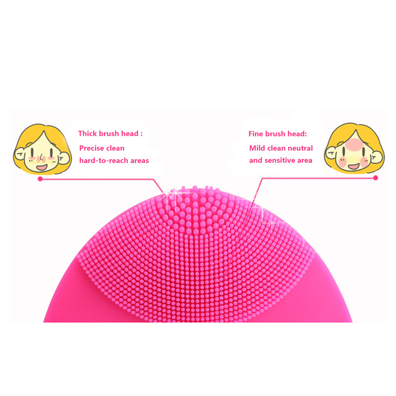 Hot Electric Face Cleanser Vibrate Pore Clean Waterpoof Silicone Gel Cleansing Brush Massager Facial Vibration Skin Care Brush 20