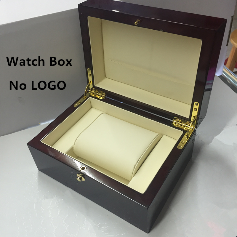 Top Quanlity Red Wood Watch Box Fashion Brand Watch Storage Boxes Watch Gift Case With Lock Can Customize LOGO P027<br><br>Aliexpress