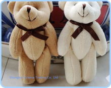 20PCS Kawaii Joint Teddy Bear Plush Toy Doll ; Size in 11CM Small Wedding Gift  ; Key Chain TOY DOLL ; Bouquet
