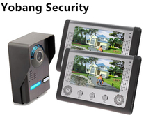 Yobang Security freeship 7Inch Video Intercom Door bell Phone Kit intercom system monitor outdoor with waterproof & IR camera(China)