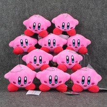 10pcs/lot Anime Kirby Mini Soft Plush Doll Pendant Stuffed Toy Super Cute Keychain Keyring Plush Pendant 8cm