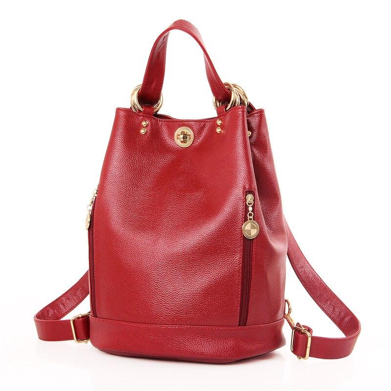 Amarte Women Shoulder bag PU Leather Womens Fashion Versatile Back pack For Adolescent Cirls Brand School Back pack Female Bags<br>
