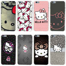 222GH Hello Kitty Fashion Hard Transparent Cover Case for iphone 4 4s 5 5s 6 6s plus 7 7 Plus
