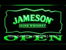 083 Jameson Irish Whiskey OPEN Bar LED Neon Sign with On/Off Switch 20+ Colors 5 Sizes to choose(China)
