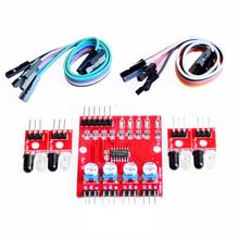 Four Way 4 Channel Infrared Detector Tracing Transmission Line Obstacle Avoidance Sensor Module for Arduino Diy Smart Car Robot