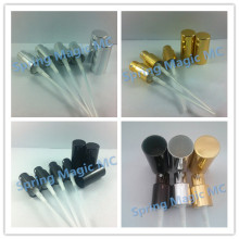 100PCS 18mm Caliber Black/Gold/Silver Aluminum mist sprayer head For 5ml/10ml/15ml/20ml/30ml/50ml/100ml perfume bottles