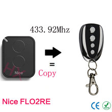 copy Nice FLO2RE 433.92mhz Rolling code remote control with battery