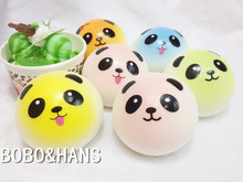 New Cute Candy Colors Panda squishy charm / mobile phone strap / Wholesale(China)