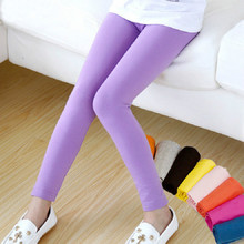 New Arrive Girl Pants Candy Color Girls Leggings Toddler Classic Leggings 2-9Y Children Trousers Baby Kids Leggings
