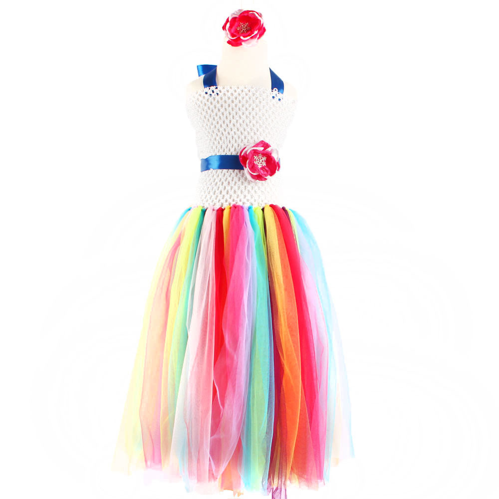 Fashion tulle flower appliques girls tutu dresses size 4 and 5 years infant girls dresses<br><br>Aliexpress