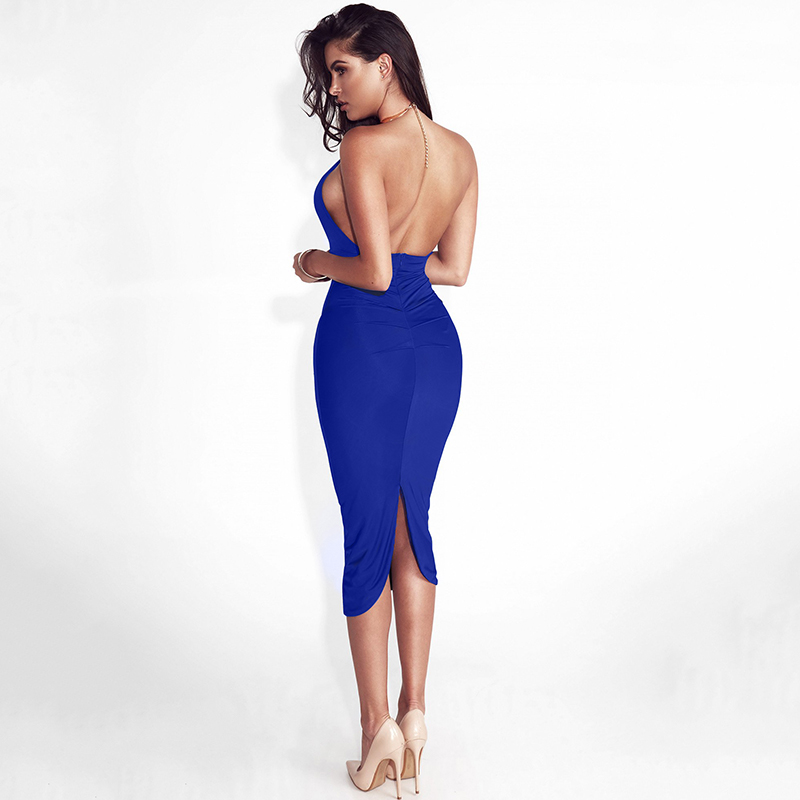 Articat Hollow Out Party Bodycon Bandage Dress Women 17 Off Shoulder Choker Long Pencil Dress Sexy Backless Split Winter Dress 10