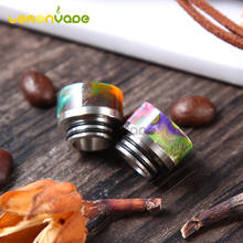 1PC Electronic Cigarette Colorful Short Wide Bore 810 Stainless Steel Epoxy Resin Drip Tip for TFV12 Griffin 25 etc.