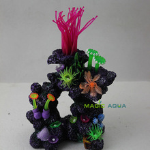 Colorful Lively Resin Artificial Coral Ornament for Marine Fish Tank Aquarium Decoration