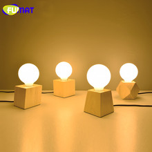 FUMAT Mini Table Lamp Small Night Light Nordic Simple Modern Solid Wood Bedroom Table Lamps