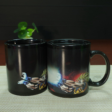 Funny Designs Magic Mugs Ceramic Coffee Mug Cup Temperature Change Color Dragon Ball SON Goku Best Gift Cup(China)