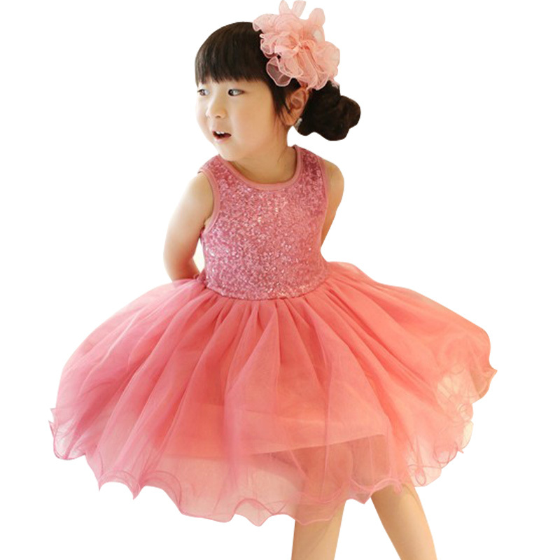 beautiful girl sequins tulle dress sparkling sunshine piece of gold vest dress fashion girl<br><br>Aliexpress