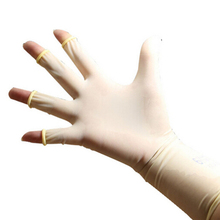 1 Pair Barber Hairdressing Latex Gloves Milky White Finger Gloves Hair Salon Protective Glove Styling Accessories(China)
