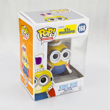 Despicable Me Minion King Bob Action Figure Collection Toy Doll Pvc Model Movie & Tv Kids Toys Freeshipping 2015 New