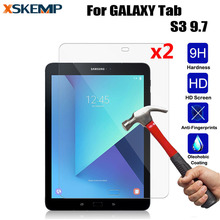 XSKEMP 2Pcs/Lot Ultra Clear Screen Protector For Samsung GALAXY Tab S3 9.7 Anti-Shatter 9H Tablet Tempered Glass Protective Film(China)