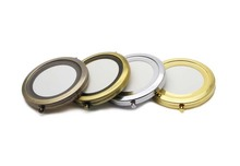 70mm Blank Compact Pocket Mirror Makeup Mirror Bulk Bronze,Silver & Gold M070K 2000pieces/lot(China)